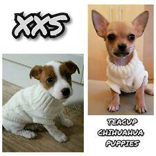 XXS Chihuahua Terrior Yorkie Dog Stretch Teacup JUMPER COAT PUPPY ALSO XXXS