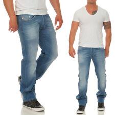 Diesel Herren Jeans Larkee Hose Stretch Regular Fit Straight Used-Look Neu