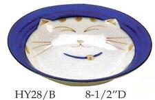 2x Japanese Kids Porcelain Soup Bowl Blue Cat HY28/B S-2563x2