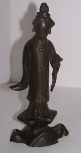 Early Chinese Bronze Figure Traces of Original Gold Gilt