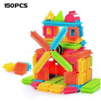 Bristle Shape 3D Building Blocks Tiles Construction Playboards Kids Toys Gift