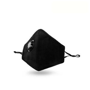 Adult Face Mask with Breathing Valve, Single Unit, Cotton, Washable & Reusable