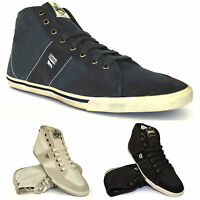 Mens Lonsdale Leather Hi Top Boxing Gym Sports Trainers Ankle Boots Shoes Size
