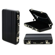 Metal Mini Briefcase Suitcase Business Bank Card Name Card Holder Case Box New