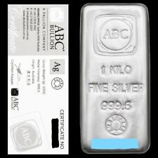 1kg ABC Silver Cast Bar The most fully featured Australian 1kg Silver