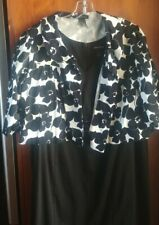 Lane Bryant Dress Plus Size 22 With Black Floral Jacket - V Neck, Sleeveless
