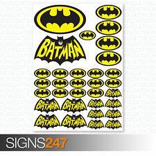 BATMAN STICKERS - 32 Printed Vinyl Batman Stickers Car Van Motorbike Skateboard