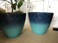 Aqua Blue Plant Pot / Planter 17x15