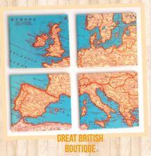 Retro Vintage Map of Europe Design Coasters Set of four Sass & Belle!