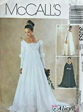 McCall's Misses' Petite Bridal Gown Dress Pattern 3053 Size 8-12 UNCUT