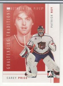 PATRICK ROY CAREY PRICE 2007-08 BETWEEN THE PIPES GOATENDING TRADITIONS GT2 MINT