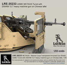Live Resin 1/35 USMC MCTAGS Turret w/DShKM 12.7 Heavy MG on Chinese Lafet
