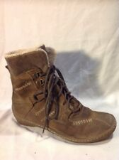 Khrio Brown Ankle Suede Boots Size 36