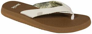 Sanuk Yoga Mat Sandal - White / Tan - New
