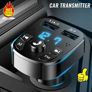 Bluetooth LCD Wireless Car MP3 FM Transmitter Radio USB Charger Handsfree Kit A
