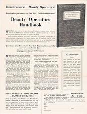 RARE 1933 WORLDS FAIR COP HANDOUT - WHITE CROSS SCHOOL BEAUTY BEAUTY OP HANDBOOK