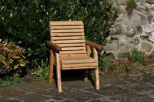 Wooden Garden Chair / Furniture / Patio Set High Back Roll Top