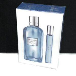 New Abercrombie & Fitch First Instinct Blue Spray Women Gift Set 3.4 and .5 Oz