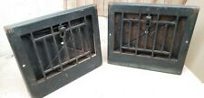 Antique metal floor grate wall grate heating vent register lot of 2