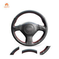 Black PU Leather Steering Wheel Cover for Subaru Legacy Impreza WRX Saab 9-2X