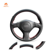 Black PU Leather Steering Wheel Cover for Subaru Legacy Impreza WRX Saab 9-2X