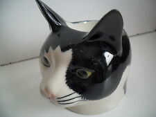 Delightful  Black & White Cat Ceramic Egg Cup By Quail Pottery Boxed Great Gift