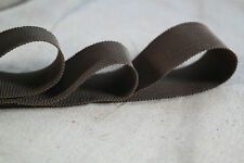 "10 yard roll 1 1/2"" brown vintage cotton rayon petersham ribbon millinery hat"
