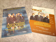 LAW & ORDER and LAW & ORDER CRIMINAL INTENT 2 Emmy ads Vincent D'Onofrio, cast