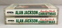 Lot of 2 ALAN JACKSON Cassette Tapes ~ Honky Tonk Christmas