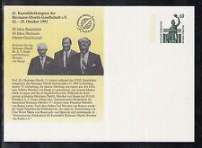 C 70 ) tolle Ganzsache 50 Jahre Raumfahrt  / 41. Raumfahrtkongress  1992