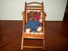 Lizzie High Doll Furniture - Beach chair with teddy bear and popcicle