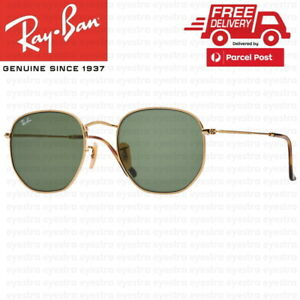 RayBan Hexagonal Flat Gold Sunglasses G-15 Lens RB3548 001 51mm Ray-Ban