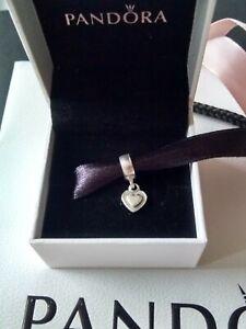 Genuine, Pandora Moments, S925 ALE, Heart Dangle Charm, 790373 Retired