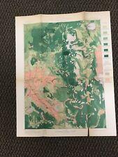 Vintage Usgs Ashland Oregon 1899 Topographic and Timber Map