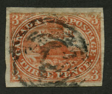 Canada 1852 Pence Beaver 3d red #4 VF used
