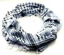 SHEMAGH SCARF Keffiyeh Kafiya Black Arab Head Neck Checkered Shawl Wrap Unisex