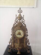 Schöne, antike Kaminuhr um 1900 / antik Bronze/ Uhr im Barockstil mit Schlagwerk