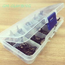 80 X Mixed Sizes Fishing Rod Guides Tips Line Rings Rod Building Set