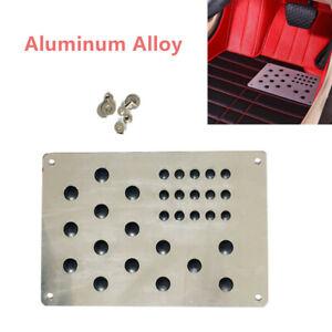 Aluminum Alloy Car Truck Floor Carpet Mat Patch Foot Heel Plate Pedal Pad Silver