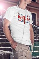 THE BEATLES Men White T-shirt Rock Band John Lennon Tee Shirt