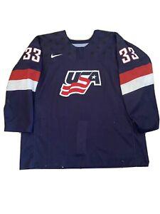 Jake Goldowski 16-17 Game Used Worn Team USA National Development Hockey Jersey