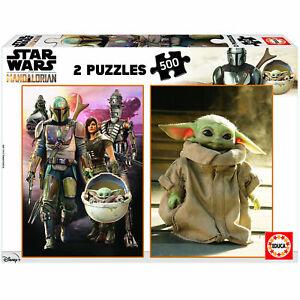 Star Wars The Mandalorian set of 2 500 piece jigsaw puzzles 480mm x 340mm (pl)