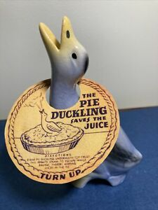 Vintage Blue Pie Duckling Pie Bird With Hang Tag