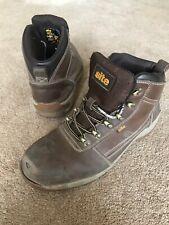 Site Brown Steel Toecap Work Boots Uk Size 8 Used