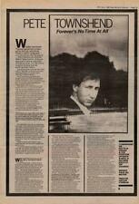 Pete Townshend The Who Interview NME Cutting 1982