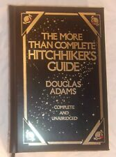 THE MORE THAN COMPLETE HITCHHIKER'S GUIDE BLACK LEATHER IN VERY GOOD CONDITION