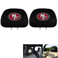New Team ProMark NFL San Francisco 49ers Head Rest Covers For Car Truck Suv Van