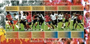 St. Vincent 2002 - SC# 3059 World Cup, Germany VS South Korea - Sheet of 6 - MNH