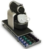 Nespresso Coffee Pod Holder and Machine Stand With Drawer Holds up to 40 Pods
