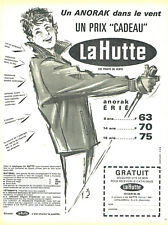 Publicité Advertising 078  1965   la Hutte vetements ski anorak